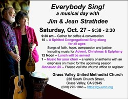 'Everybody Sing!' at Grass Valley UMC This Month
