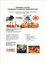 Hispanic/Latino Community Outreach Resource Fair, Oct 20, in Selma