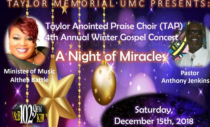 Taylor UMC Unveils 'A Night of Miracles'