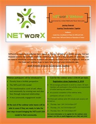Three-Part Fall 2019 Webinar Introduces Churches to NETworX Anti-Poverty Model