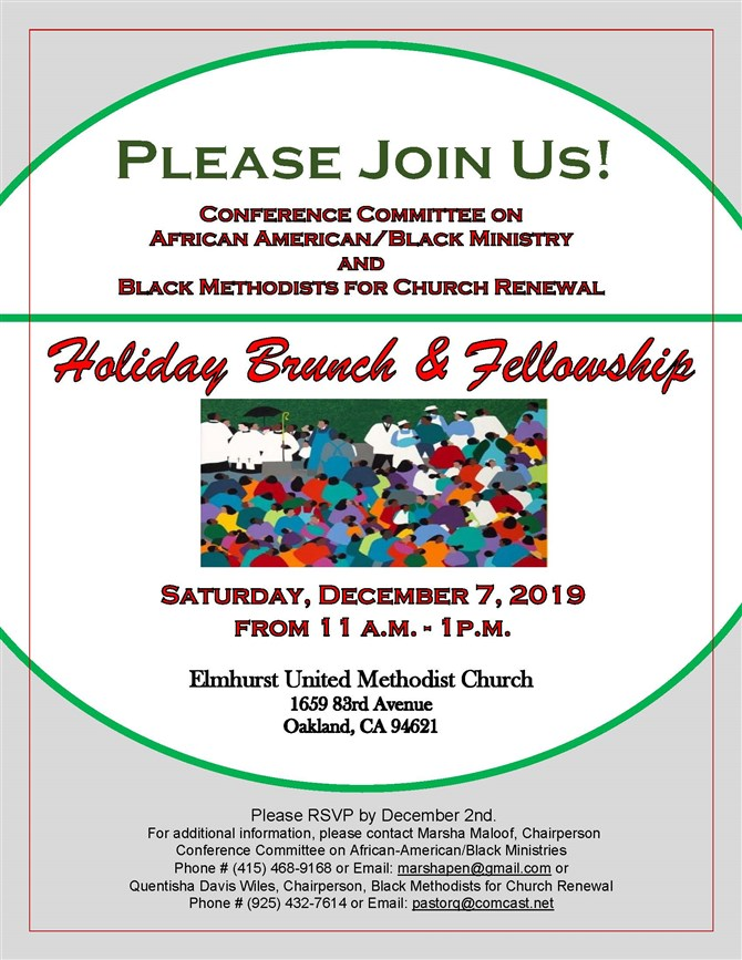 'Holiday Brunch and Fellowship' at Elmhurst UMC
