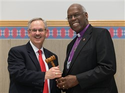 Bishop Brown Passes Gavel to New Council President