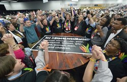 GC2016 plenary pauses for Black Lives Matter demonstration